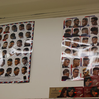 Men's hairstyle poster